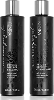 Kenra Detox & Deflect Shampoo and Conditioner Set, 8.5-Ounce