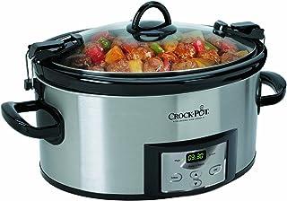 【並行輸入】電気料理鍋 Crock-Pot SCCPVL610-S 6-Quart Programmable Cook & Carry Oval Slow Cooker, Stainless ステンレス Steel