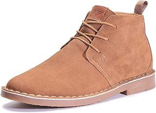 Gaatpot Hommes Bottes en Suédé Cuir Classique Confortable Lacets Bottines Casual Travail Bureau Désert Chaussures 39-46
