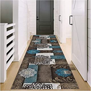 Runner Rug for Hallway, Long Narrow Hall Carpet Runners, Non Slip Wear Resistance Floor Mat for Corridor Entryway Stairs, ...