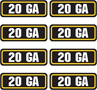 AZ House of Graphics 20 GA Ammo Sticker 8 Pack
