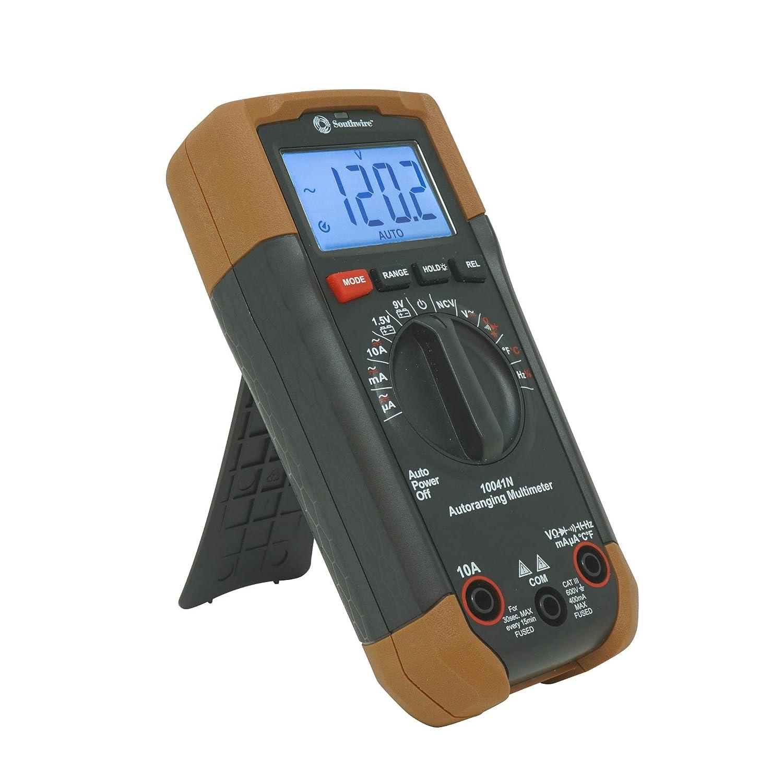 Southwire Tools Equipment 10041N High order Regular store Auto Multimeter Black Brown