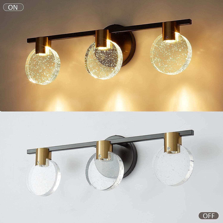 Buy KUCICO Modern Bathroom Light Fixtures,LED Vanity Lights for ...
