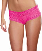 Dreamgirl Women's Stretch Lace Cheeky Hipster Panty
