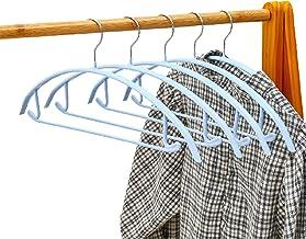 Jishu 10 Pack Non-Slip Suit Hanger Dimple & Crease Gratis Halve cirkel Traceless Kleding Hanger voor Broek Sjaals jas