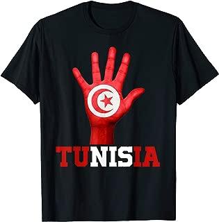 TUNISIA Hand Up Flag Tshirt I Love TUNISIA Travel Tee T-Shirt