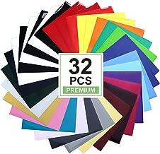 HTV Heat Transfer Vinyl Bundle: 32 Pack Assorted Colors 12