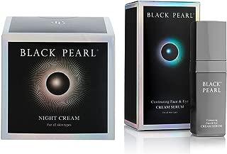 Sea of Spa Black Pearl Nourishing Night Cream and Contouring Face & Eye Cream Serum (2 Pack)