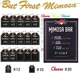FaCraft Mimosa Bar Sign Kit Bride Shower Decorations 54 PCS