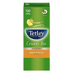Tetley Green Tea Bags - Lemon & Honey, 100 Pieces
