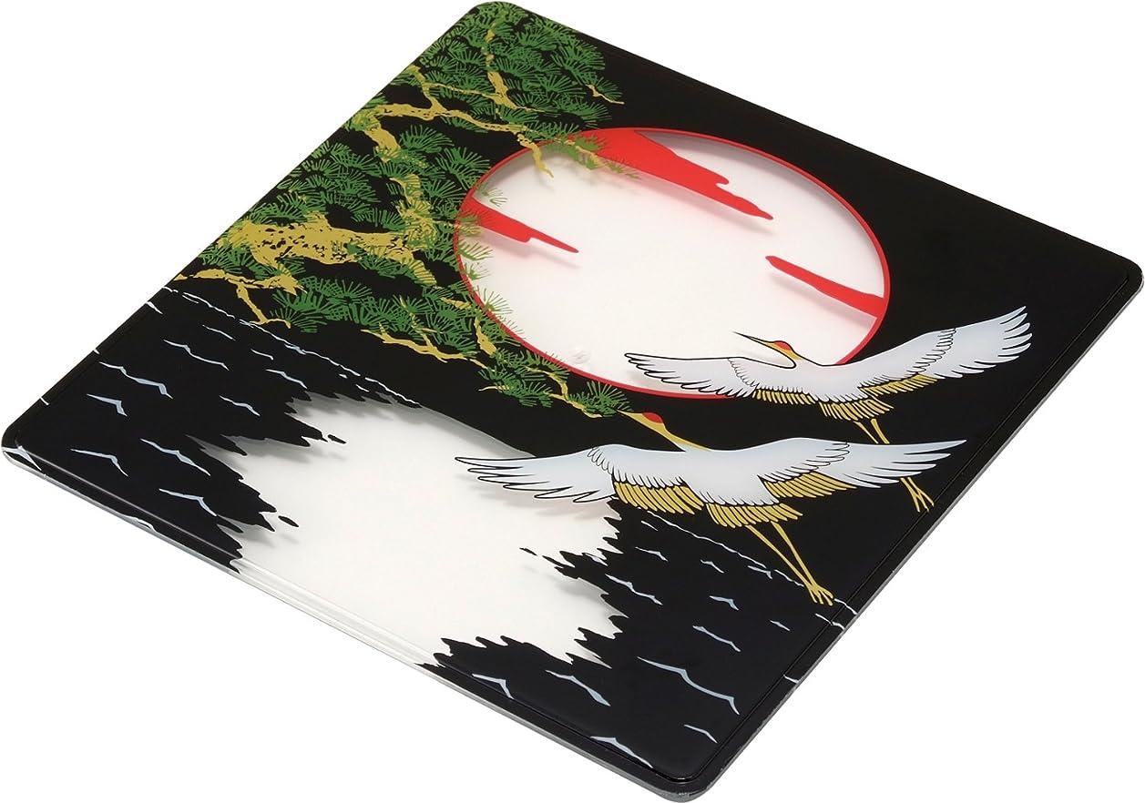 乱闘配偶者リップニシキ フタ(お重用) 飛鳥7寸 角型 鶴 5枚 2365215050