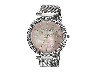Michael Kors Darci Three-Hand Mesh Watch (Silver) Watches