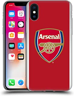 Official Arsenal FC Home 2017/18 Crest Kit Soft Gel Case Compatible for iPhone X/iPhone Xs