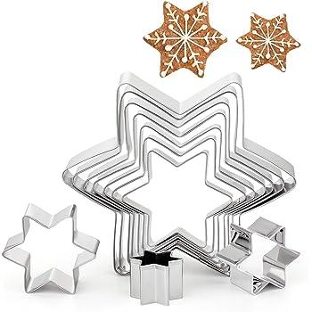 Etoile Emporte pièces Moule a Patisserie Biscuit Découper lot de 6