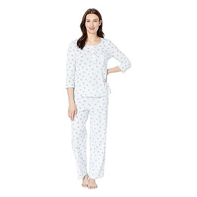 Carole Hochman Long Sleeve Pajama Set (Blue Birds) Women