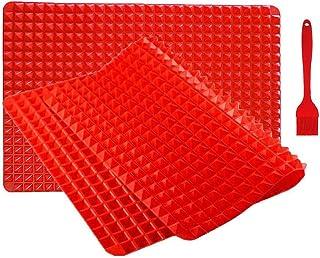 Inchant 2 Paquet Silicone sain Cuisson Cuisson Tapis - Facile à Nettoyer Pad en Silicone Four Liner pour Grille-Pain, Pie ...