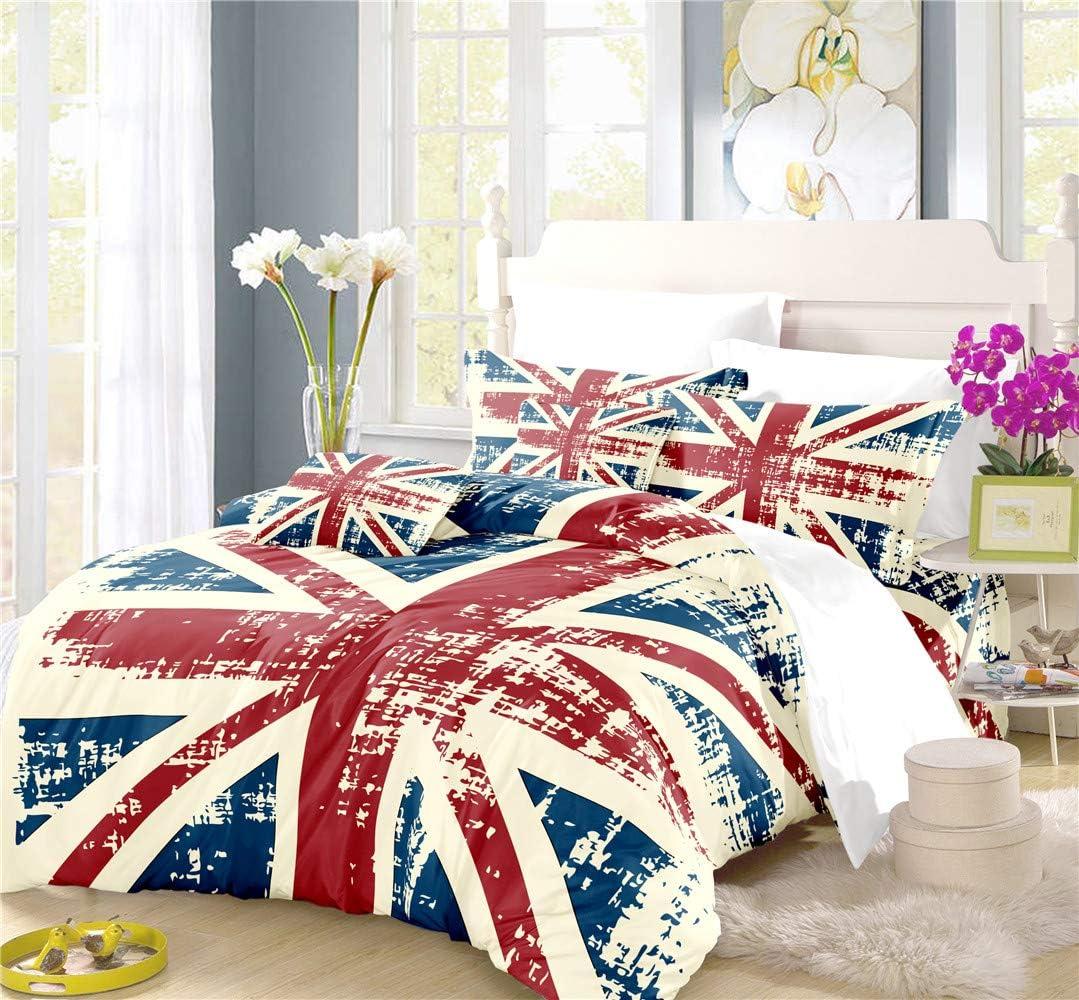 REALIN The Union Jack Duvet Cover B Big Bedding Flag 特価キャンペーン British Set 通信販売