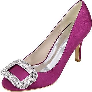 Vimedea Womens Round Toe Mid Heeled Slip On Snakeskin Dress Pumps Wedding Party1689-01D