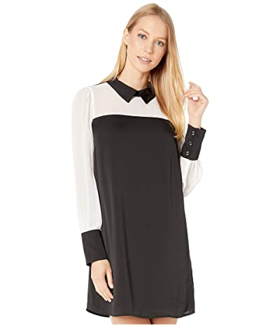 BCBGeneration City Long Sleeve Woven Dress (Black) Women
