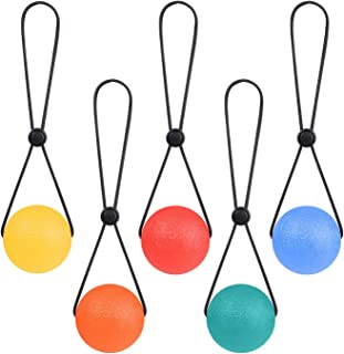 LULUFUN Stress Ball on a String - Portable Fidget Squeeze Toys Strengthen Hand Exercise and Relieve Tension Best Gift for Women Men 2.1inch (Set of 5)