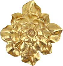 "Sagebrook Home 14668-02 Resin 13"" Wall Flower, Gold, 13"" L x 3"" W x 13"" H"
