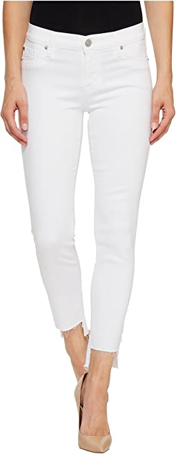 Colette Mid-Rise Skinny with Raw Step Hem in White