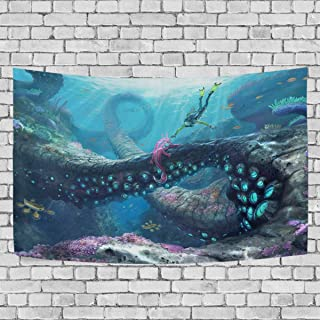 FASHIONDIY Subnautica Tapestry Wall Hanging Decoration for Apartment Home Art Wall Tapestry for Bedroom Living Room Dorm Fashion 60 x 51 inches