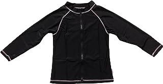 SwimZip UPF 50+ Kids Long Sleeve Zipper Rash Guard Swim Shirt (Multiple Colors)