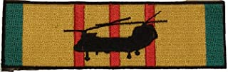 United States Marine Corps CH-46 Sea Knight Silhouette on Vietnam Service Ribbon Military Patch - Veteran Owned Business