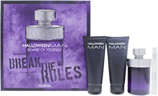J. Del Pozo (JDELO) Halloween Man Eau de Toilette Spray 4 Pieces Gift Set for Men, Pack of 4