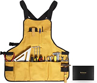 Briteree Work Tool Apron for Men and Women, Torso Length with 21 Tool Pockets, Gift for...