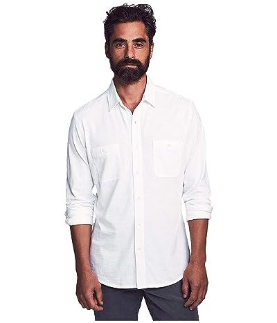 Faherty Knit Seasons Shirt (White) Men