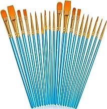 Acrylic Paint Brushes Set, 20Pcs Artist Paintbrushes Paint Brushes for Acrylic Oil Watercolor, Canvas Body Face Rock Paint...