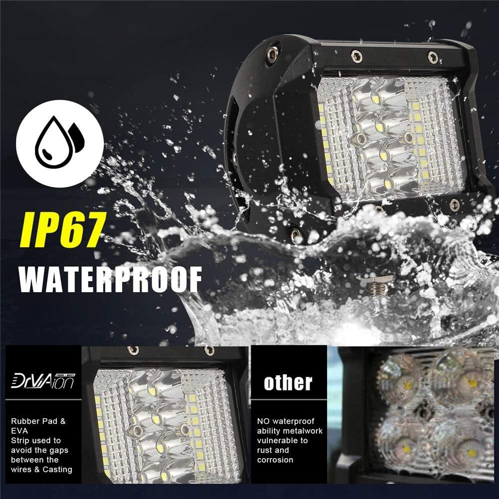4 pouces 108W LED Feux de brouillard Phares de tracteur 6000K Lampes de travail /à LED Pods Lumi/ères de barre tout-terrain LED Pod Lumi/ère de marche arri/ère LED Asudaro Lampe de travail /à LED
