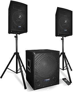 Système Sonorisation Complet 2200W Enceintes + Subwoofer USB/BLUETOOTH + Pieds - BM SONIC BMS1512