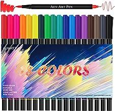 Dual Tip Brush Marker Pens, 18 Brush and Fine Tip Art Marker Pens for Beginners Journaling Hand Lettering Writing Planner