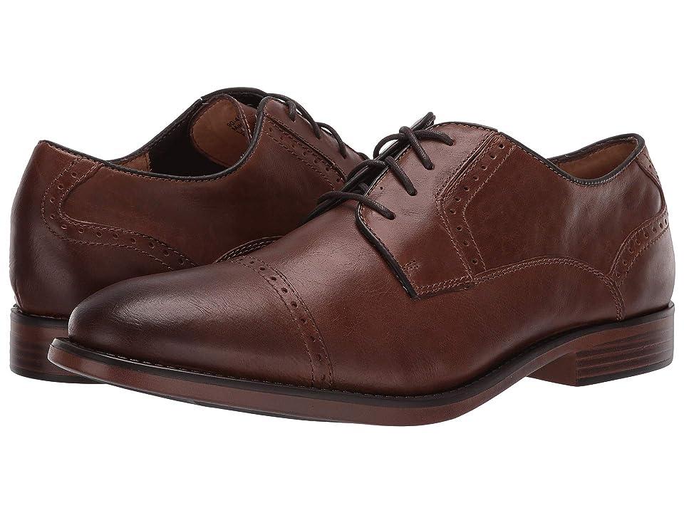 Dockers Hawley Cap Toe Oxford (Dark Tan/Tan Soft Milled Full Grain/Suede) Men