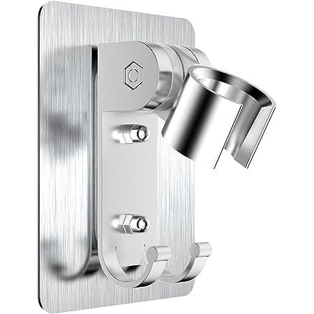 Shower Handset Holder CHROME Bathroom Wall Mounted Suction Bracket Self-adhesive
