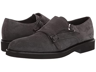 Canali Suede Monk Strap Oxford (Grey) Men