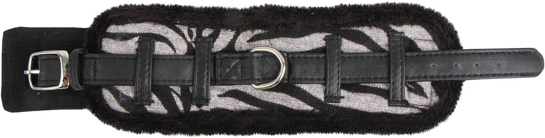 Puppia Large Authentic Modern Zebra Neck Guard, Black