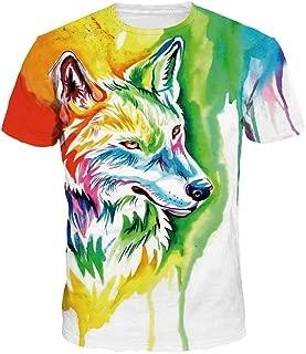 HOP FASHION Unisex Short Sleeve 3D Print T Shirts