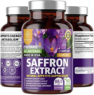 N1N Premium Saffron Extract Capsules [100% Pure Saffron, Max Strength] Natural Weight Loss Pills for Men and Women, Improv...