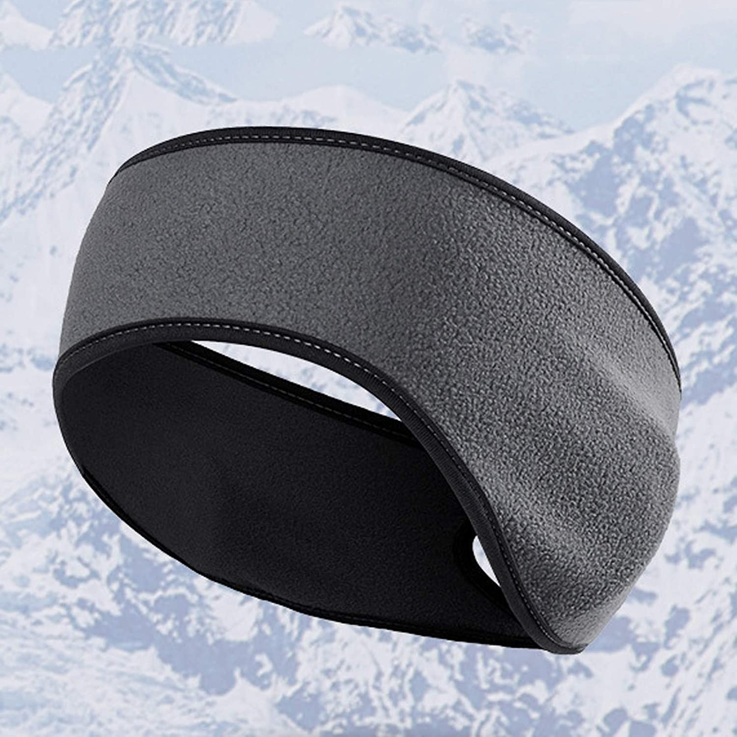 Fleece Ear Warmers for Women Winter Earmuffs Ponytail Headband for Cold Thermal Workout Running Cycling