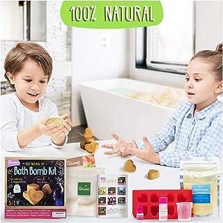 Kiss Naturals DIY Bath Bomb Making Kit – Make Your Own Bath Bomb Kit for Girls and Boys..