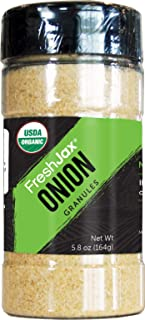 Sponsored Ad - FreshJax Premium Organic Spices, Herbs, Seasonings, and Salts (Certified Organic Onion Granules - Large Bot...
