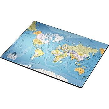 70 x 45 cm Import Allemagne Herlitz 5552203 Sous-main carte du monde langue anglaise
