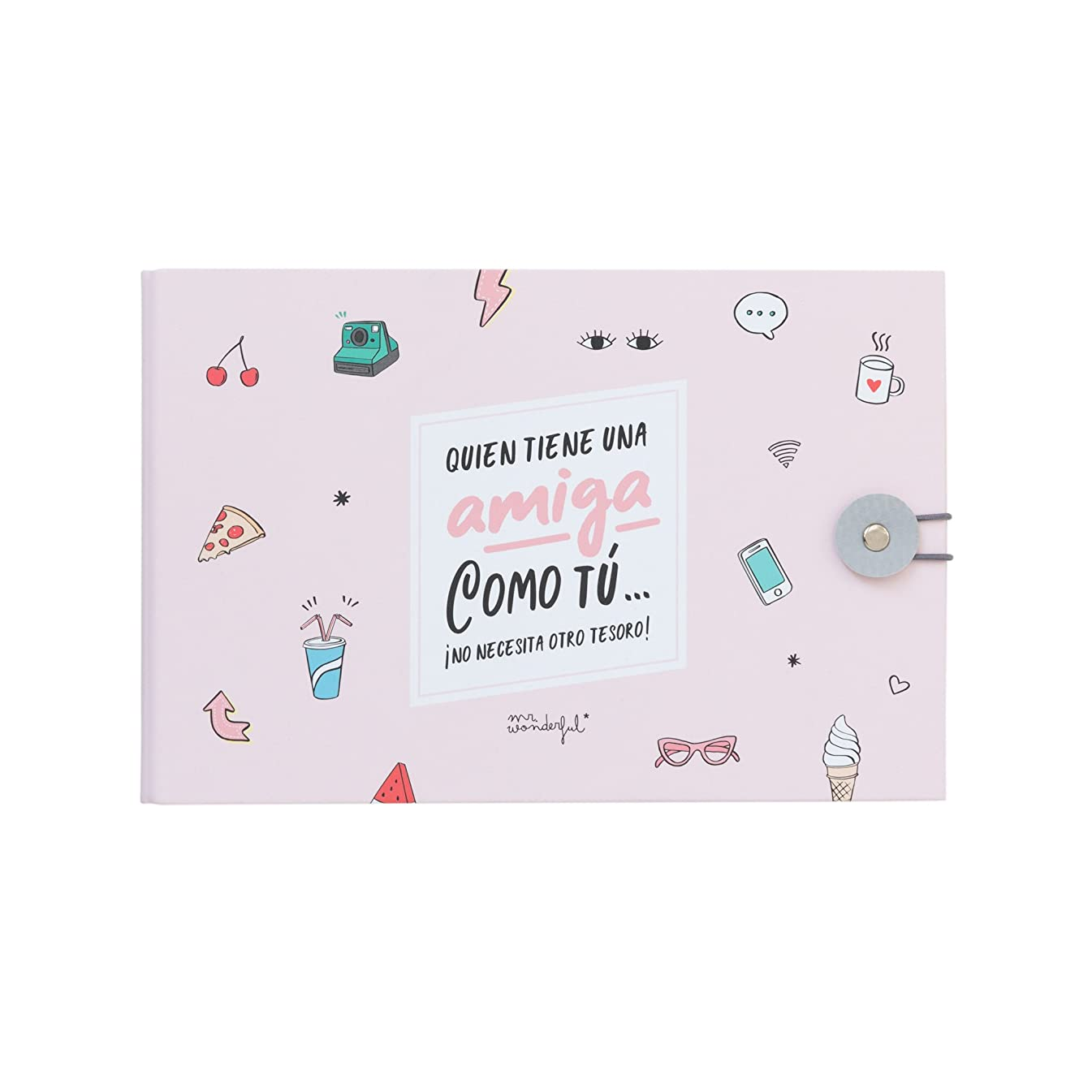Mr. Wonderful Friend Like You. You Do Not Need Another Treasure Photo Album, Paper, Multicolor, 23?x 15?x 3.5?cm
