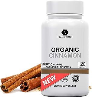 Organic Ceylon Cinnamon Supplements - Cinnamomum Verum Powder Formula - Blood Sugar Stabilizer Support, Glucose Control - ...