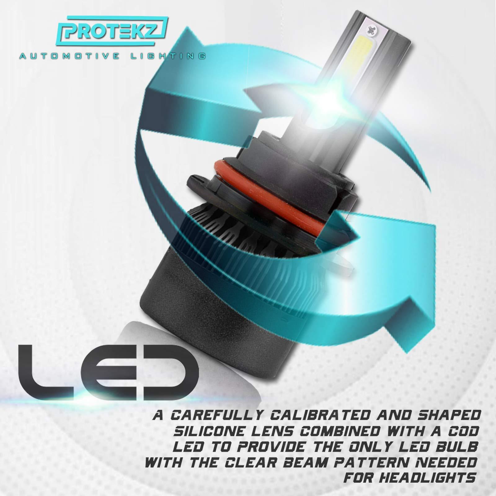 Protekz H11 LED Headlight Fog Light Kit Plug/&Play Cooling Fan 60W 7200LM 6000K