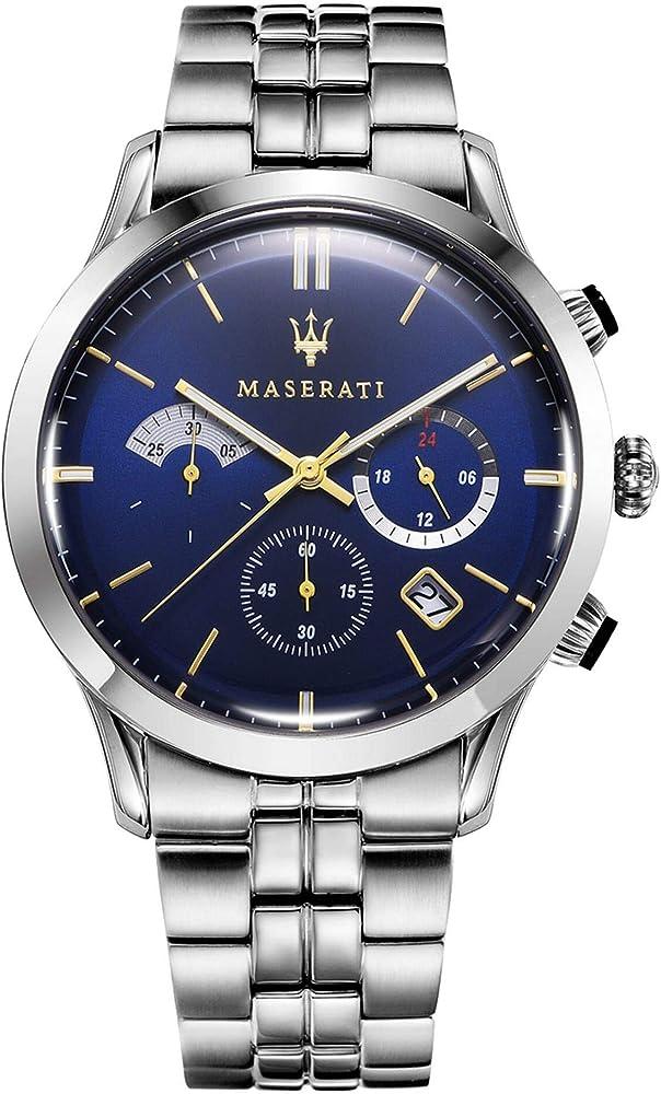 Maserati orologio cronografo da uomo, collezione ricordo  in acciaio 8033288813576